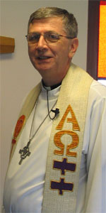 Pastor Joachim Wilck of Lutheran Church of Our Saviour